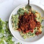 Vegetarische runderreepjes in pittige ketjap met andijviestamppot