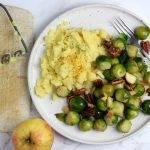 Zoete spruitjes met gember, appel en pecan