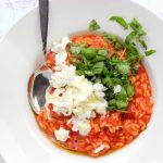 Makkelijke risotto met tomaat en mozzarella