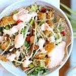 Wraps met wokgroenten, vega kipschnitzel en romige sweet chili