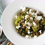 Verse tortelloni met spinazie, geitenkaas en pistache