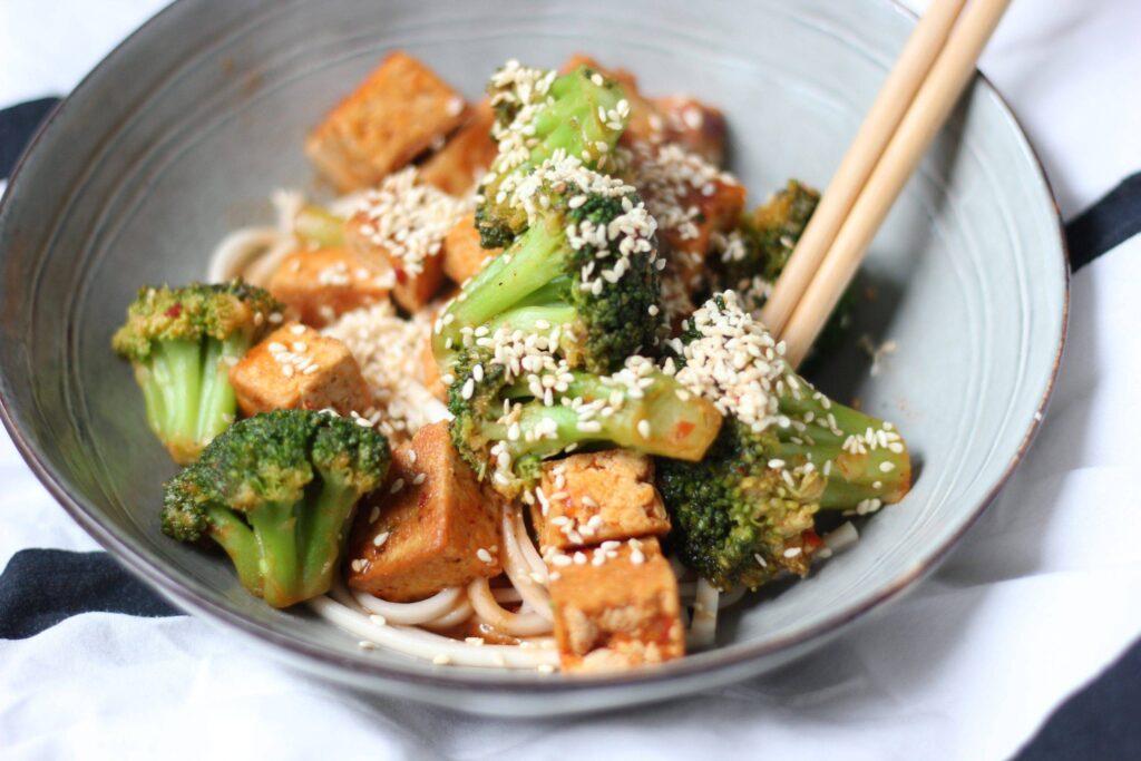 tofu pittige saus