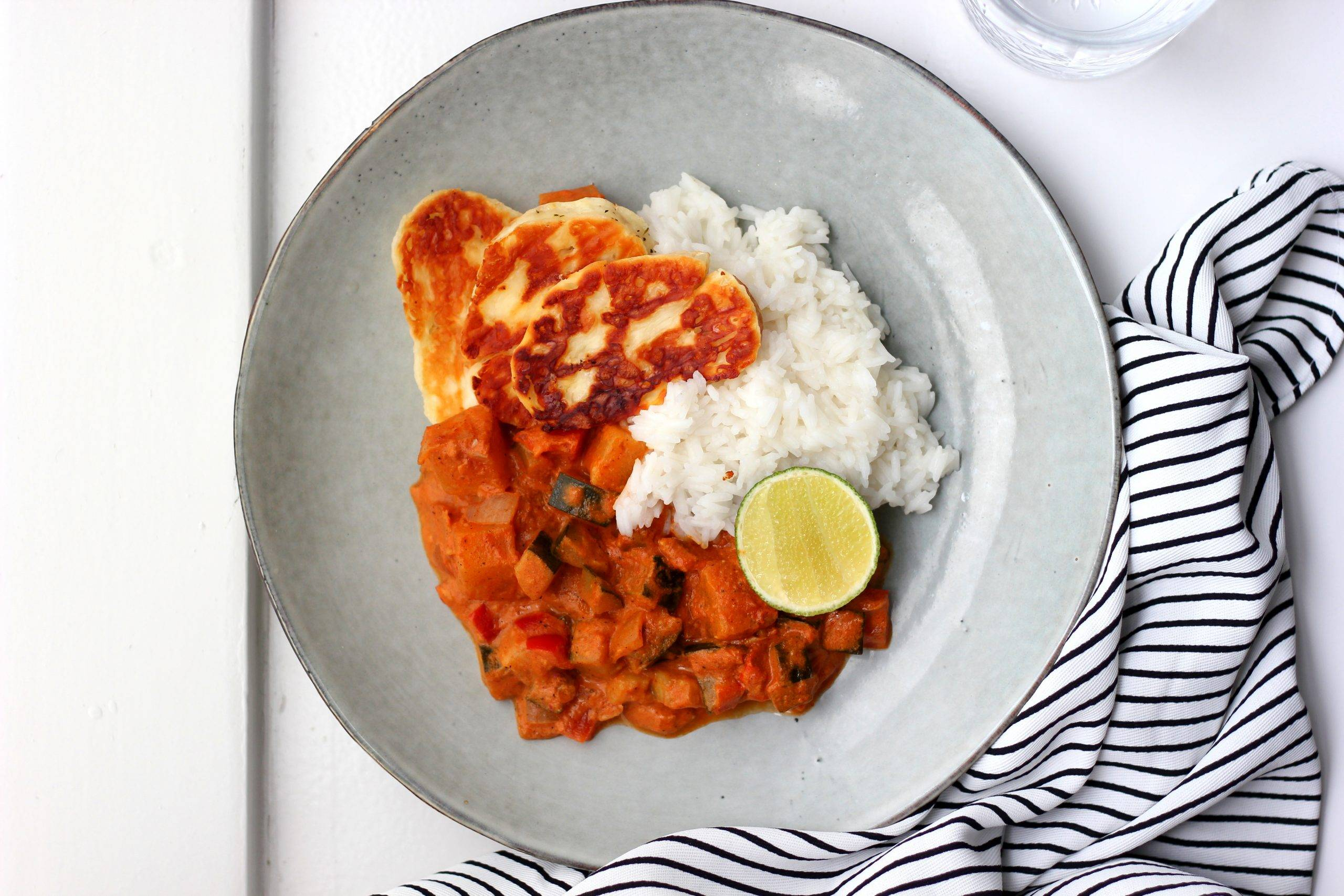 curry met ananas